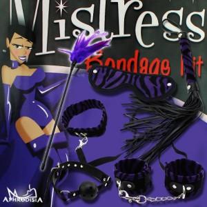 APHRODISIA-SM紫色絨毛套裝六件組
