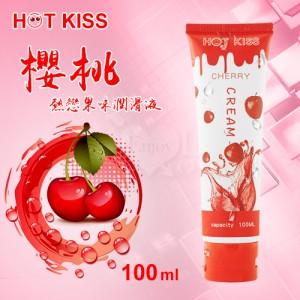 HOT KISS‧櫻桃 熱戀果味潤滑液 100ml﹝可口交、陰交、按摩...﹞