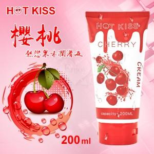 HOT KISS‧櫻桃 熱戀果味潤滑液 200ml﹝可口交、陰交、按摩...﹞