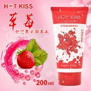 HOT KISS‧草莓 熱戀果味潤滑液 200ml﹝可口交、陰交、按摩...﹞