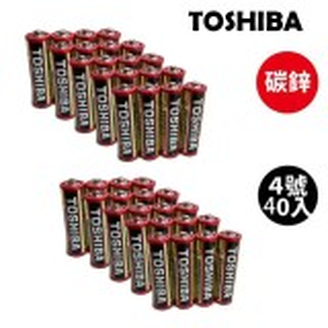 TOSHIBA 東芝無鉛碳鋅電池 4號40入(1盒裝)