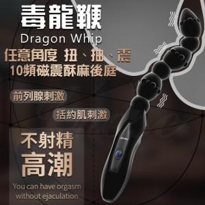 香港久興-毒龍鞭 10段變頻磁震後庭 前列腺按摩棒-(扭、抽、震任意角度)