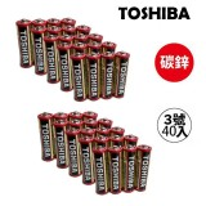 TOSHIBA 東芝無鉛碳鋅電池 3號40入(1盒裝)