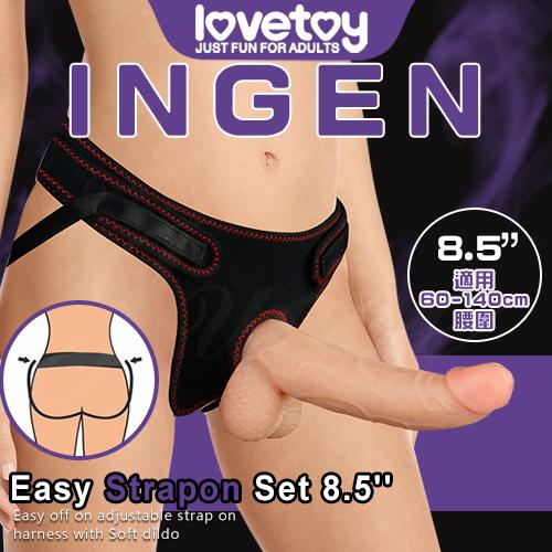 INGEN 女用舒適穿戴式逼真老二按摩棒-8.5吋(特)