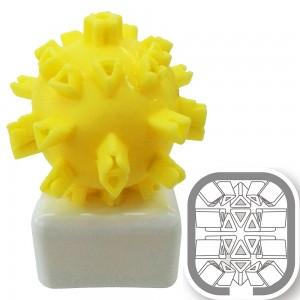 日本原裝進口ONADROID JAPAN骰子造型三角形男用自慰套(黃色)