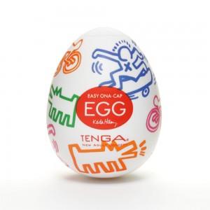 日本TENGA一次性奇趣蛋自慰蛋 Keith Haring漫畫款EGG蛋-快速動力型(EGG STR...