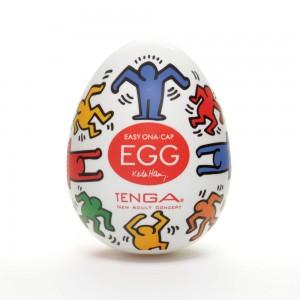 日本TENGA一次性奇趣蛋自慰蛋 Keith Haring漫畫款EGG蛋-舞動節奏型(EGG DAN...