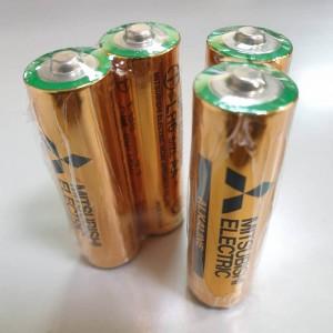 日本 MITSUBISHI 三菱 3號 AA 鹼性電池 (2入)