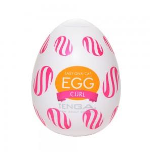 日本TENGA一次性奇趣蛋自慰蛋 EGG歡樂系列 EGG-W05渦球挺趣蛋(CURL)