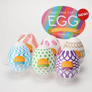 日本TENGA一次性奇趣蛋自慰蛋 EGG歡樂系列 W01-W06款(六種不同造型與刺激)