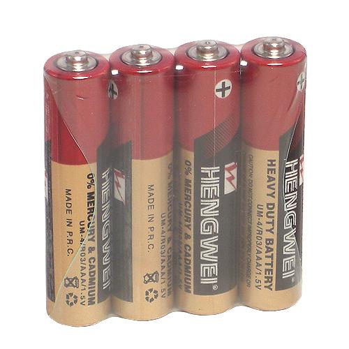 【HENGWEI】4號環保碳鋅電池(4顆入)