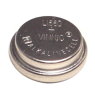 【Vinnic】鹼性錳鈕扣型電池15.4ㄨ6.15mm (1入)卡裝