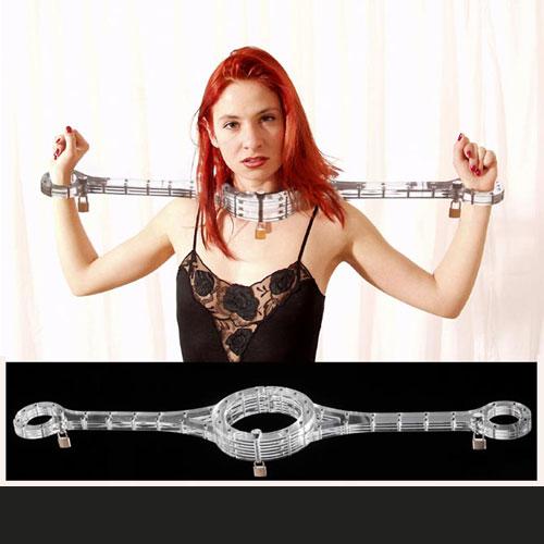 一字型水晶固定枷鎖 ( 極度手頸連銬 )