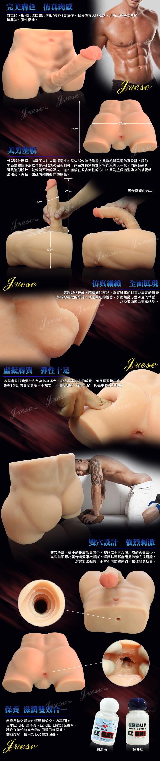 香港Juese-傑克3D下部(仿真前後構造)重量級5.2Kg自慰器