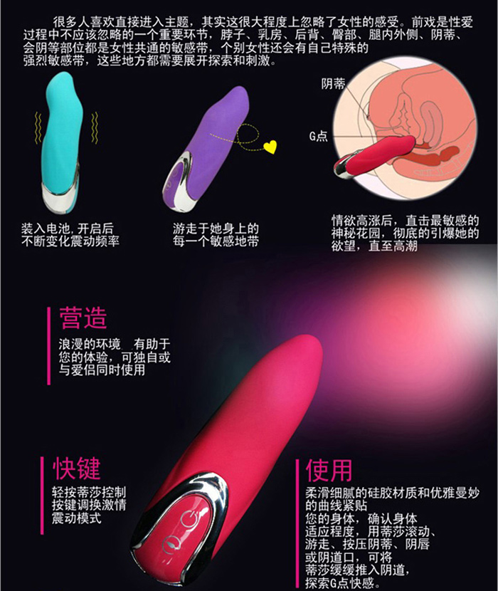 香港Mannuo*蒂莎短棒7頻高潮按摩棒/震動/電池