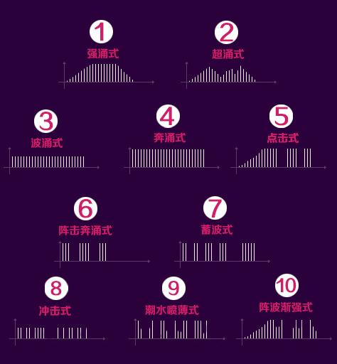 雙飛艷 10段變頻內外雙頭震動按摩棒