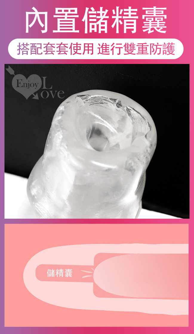 Long time 歷久 ‧ 隱形透明水晶威猛套﹝可增粗40% 增長8公分﹞全長18公分