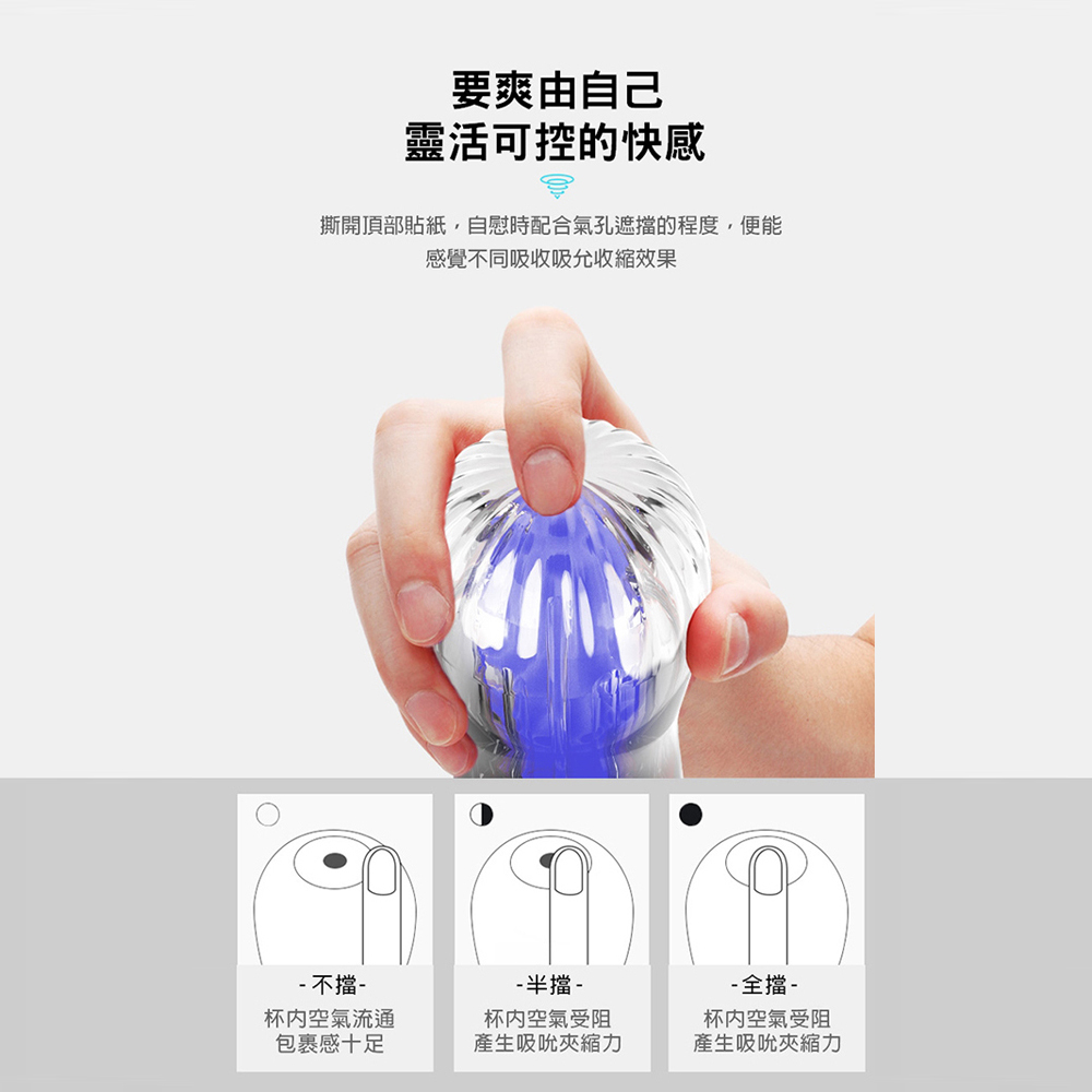 RENDS波西米亞深喉刺激款(藍色-浪漫Pro)鍛鍊透明飛機杯