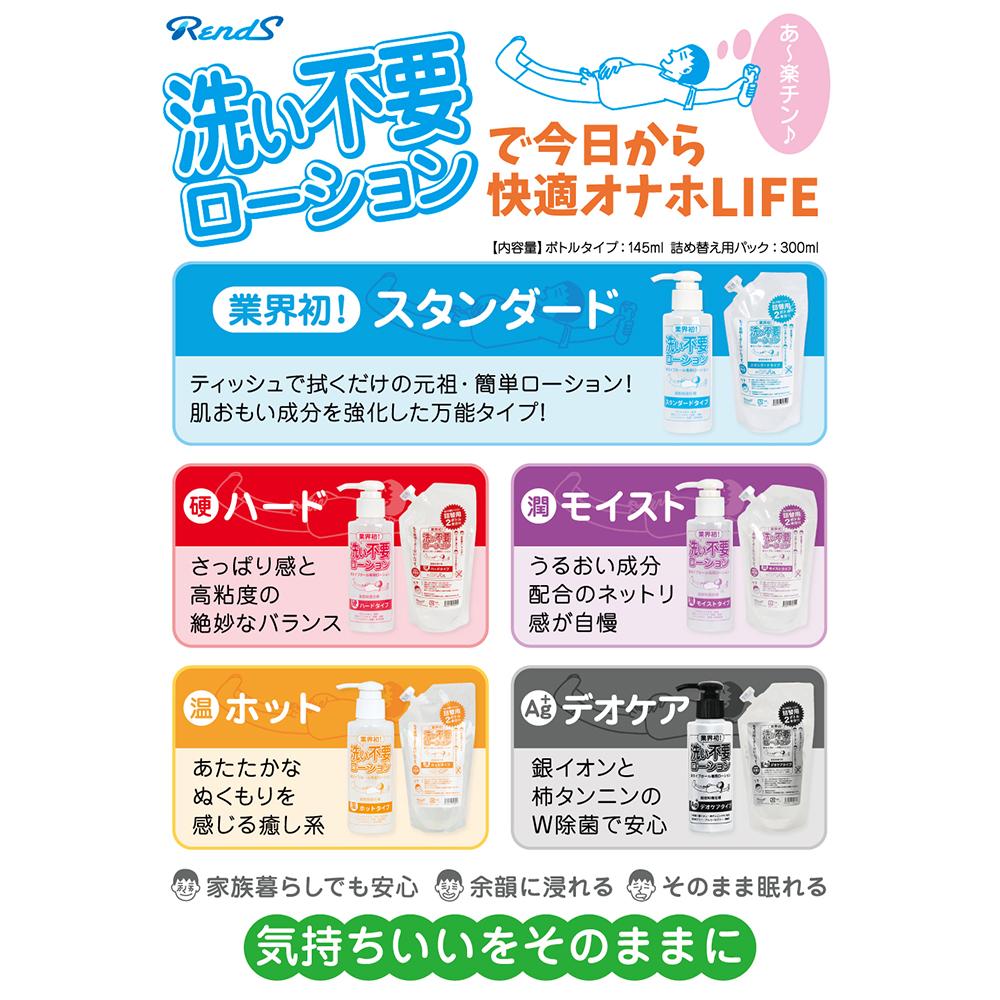 日本RENDS免清洗超低黏度【抗菌型】水溶性潤滑液300ml(補充包)