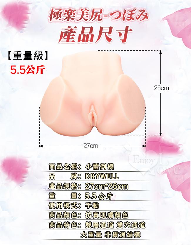日本Drywell【涉い井】つぼみ(蕾)の極樂美尻3D立體倒模完全再現超大型名器-5.5kg﹝附簽名海報/人體潤滑液200ML