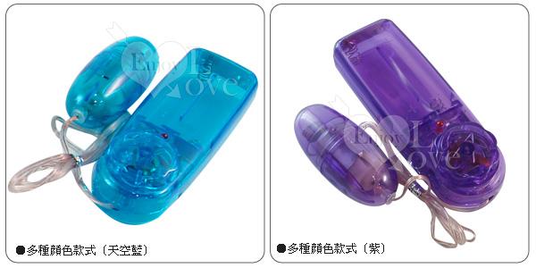 彩色透明短跳蛋 - 紫色*