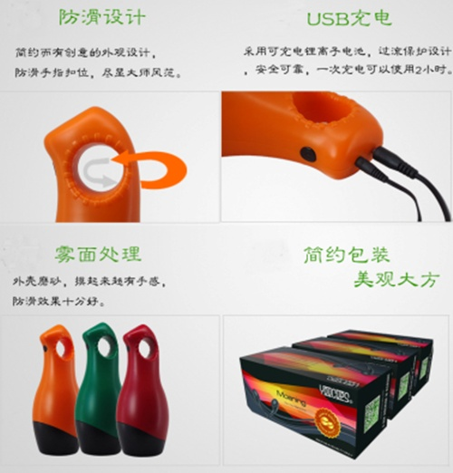 英國YouCups *呻吟-葛瑞斯男用自慰器(12變頻+USB)-橙色